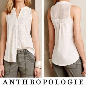 Anthropologie Meadow Rue Jenson White Lace Large